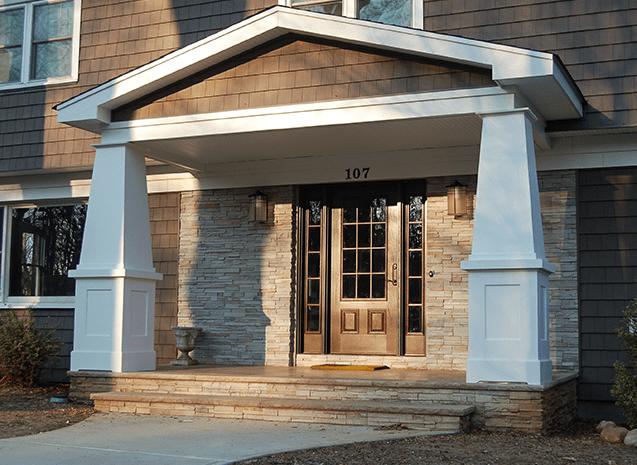 front home entryway brick exterior